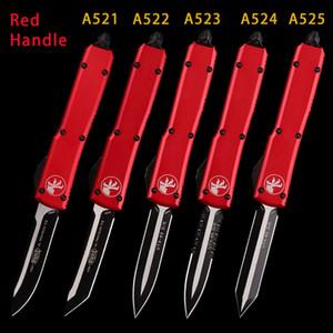 레드 블루 오렌지 핸들 MT 자동 칼 MICOR KNIVES TECH DOUBLE 전술 전술 KNIFE BLACK COATING BLADE 접이식 포켓 utx 85