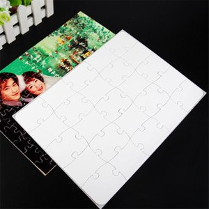 Sublimation Jigsaw Puzzle 120 Pieces Heat Press Thermal Transfer Crafts Diy White A4 Blank Puzzles For Sublimation Photo Printing A05