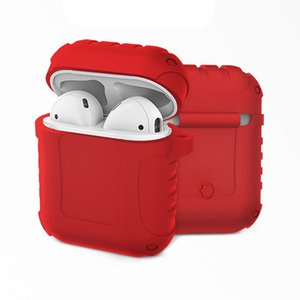 New Wireless Bluetooth Headset Cover Waterproof Silicone Case Suitable For Apple Bluetooth Five Generation Headphone Cover Red