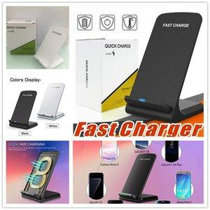 2 Bobinler Kablosuz Şarj için Qi Kablosuz Hızlı kablosuz işlevi Tüm telefonda İçin Standı Pad Şarj Akıllı telefonlar şarj Qi özellikli