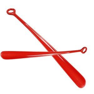1pcs 47cm Simple Mode Chausse Plastique Solide Couleur professionnelle Easy Reach Poignée flexible Slip Remover aide Corne AA Chaussures