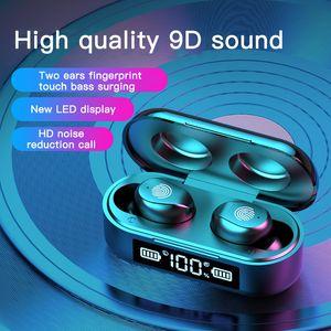 TWS f9-6 fones de ouvido sem fio com display poder levou desporto estéreo HD sem fio Bluetooth fones de ouvido fones de ouvido mini-jogo auricular