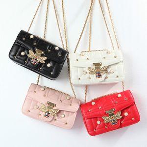 Newest Ins Super Fire Design Bag Female 2020 Fashion Luxury Bee Bag Mini Designer Diamond Chain Crossbody Bag