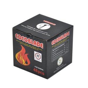48pcs Box Cocoblade Coconut Shell Charcoal for Shisha Hookah Charcoal Holder Coal Bowl Charcoal Heater