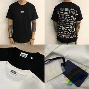 2020 camiseta de los hombres de las mujeres 1 la mejor calidad Hip-hop camiseta Top Tees Negro Blanco