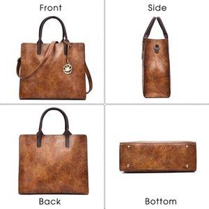 Designer-TTOU femmes Pu cuir sac à main 3Pcs Set Grand Sac fourre-tout dames Tassel épaule sac à bandoulière Mode sac sac Sac à main