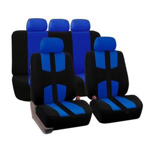 9PCS / set سيارة FrontRear غطاء مقعد سيارة اكسسوارات التصميم العالمي للسيارات خمسة مقاعد للجميع فور سيزونز