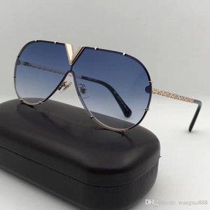 neue Männer Frauen Designer-Sonnenbrille Z0898E Mode ovale Sonnenbrille Spiegellinsenbeschichtung hohler Metallrahmen Farbe überzog Rahmen UV400 Objektiv