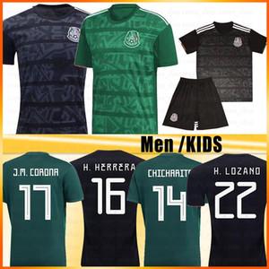 Gold Cup 2019 Camisetas México Futebol Homens Crianças DOS VELA MARQUEZ SANTOS Copa América H. HERRERA A. GUARDADO LOZANO pé maillot de