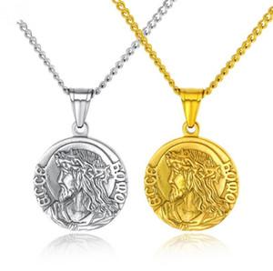 Носить шляпу Иисус медаль памятное ожерелье Религиозная молитва вера монета кулон Девы Марии Кулон Монета Подарочная цепь