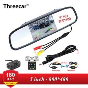 5 polegadas HD Rear View carro espelho Interior Monitor de 2CH de entrada de vídeo de alta resolução 800 * 480 DC Car 12V Angle Espelho Retrovisor Monitor de