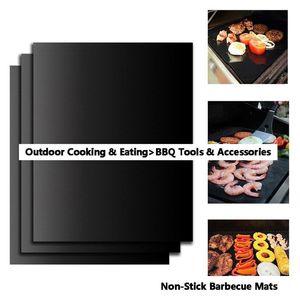 BBQ الشواية حصيرة دائم غير عصا شوى حصيرة 40 * 33CM صفائح الطبخ فرن الميكروويف في الهواء الطلق BBQ الطبخ أداة زينة