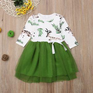 Продавец Великобритании Рождество малыш девушки партия принцессы Туту кружева платье одежда осень
