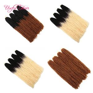 Crochet largo extensiones de cabello pelo sintético de tejido 18Inch de trenzar dreadlocks del pelo DIY por Micro Loc Loc hermana recta para las mujeres US UE