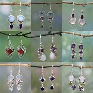 Giorno orecchini fiore orecchini regalo ciondolo di cristallo a spirale di San Valentino orecchini lampadario a sospensione ciondolo gioielli XD22951 modo delle nuove donne