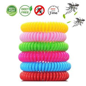 Портативный анти-комаров браслет случайный цвет противомоскитный браслет анти-комаров браслет противомоскитный браслет для детей Mosqui