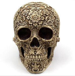 Mai Meng Hua Yan Skull Resin Decoration Halloween Spoof puntelli commercio estero Europa e America Horror Retro Face Decoration