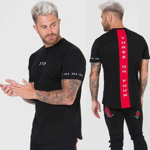 Hommes T shirt manches courtes en coton Slim Fitness Patchwork T-shirt noir Homme Marque Gym T-shirts Tops été Nouveau Mode Vêtements de sport