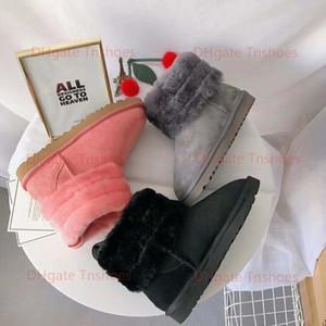 F18 Hombres Mujeres Winter cálidas botas zapatos botines Pelusa Mini acolchado diseñador de moda de lujo Bota mujeres botas de nieve Australia Pelusa Sí Slide