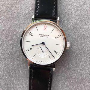 2020 New Nomos-Uhr Pferdelederband 316 Edelstahl Zifferblatt DUW 5001 Automatische Mov Saphirglas wasserdicht GP Fabrik Uhren