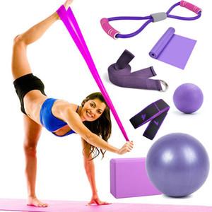 7 Sets Pièces pour Fitness Gym Accessoires Trainning exercice Yoga Pilates bandes de résistance à billes Accueil Brick Block Drop Ship