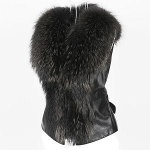 2019 Chic Lady Faux Fur maglia casuale Gilet Inverno Autunno solido con scollo a V Zipper morbida senza maniche donne Outwear Coat 2019