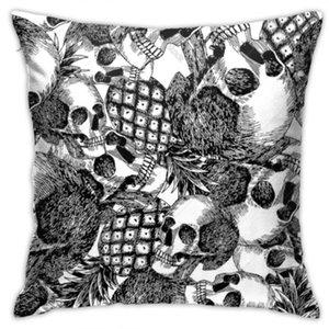 Designer-Haus 45 * 45CM Startseite Sofa werfen Pillowcase Polyester Kissenbezug Kissenbezug Dekor Kissenbezug Blank Weihnachten Schädel Ananas