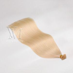 VMAE European Virgin Pre-bonded Hair Extensions 1g strand 100g #60 Blonde Natural Straight Keratin Double Drawn I Tip Human Hair Extension
