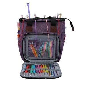 Tragbare Knitting Bag Wollgarn Häkelnadeln leeren Speicher Nähnadeln Organizer Nähen Stricken Aufbewahrungstasche Pouch Organizer KKA7959