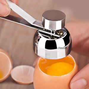 Stainless Steel Boiled Egg Topper Shell Cutter Knocker Raw Egg Cracker Separator Egg Opener Kitchen Gadgets