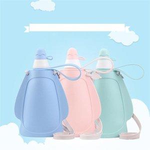 Chegada nova garrafa Silicone dobrável água Saco dos doces Cor dobrável Water For Students casa e na escola Direct Selling 18 8hfH1