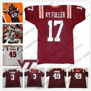 NCAA Virginia Tech Hokies # 17 Кайл Фуллер 4 ДеАнджело Холл Эдди Ройал 22 Террелл Эдмундс 49 Тремейн 3 Грег Строман Футболист Джерси в отставке
