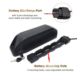 52V 13Ah Ebike Battery Lithium ion bike battery with Charger, USB Port, Safe Lock, BMS Protection Board for bafang motor