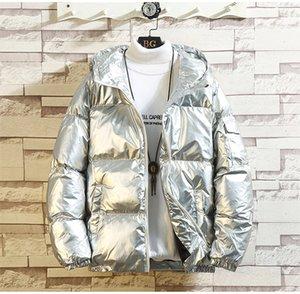 Mens Winter Bright Color Down Hooded Solid Color Warm Men Parkas Casual Thicken Man Designer Outerwear