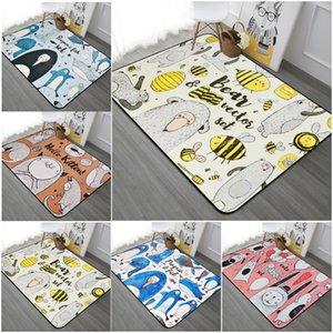 Cartoon Abstract Animal Rug Cute Bee   Bear   Pattern Children's Game Rug Home Decor Doormat
