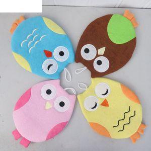Cute Owl Shape Bath Brush Children Kids Body Cleaning Bath Glove Massage Towel Bathroom Accessories