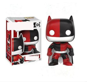 2020 FUNKO POP Red and Black Bat Clown Anime figure Girl Fit Doll Hand office collection Model Car Decoration toys 124 #