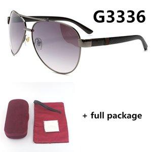 Modedesigner retro Männer 3336 Sonnenbrille Marke Fahrer fahren Brillen 4 Farben neu mit vollem Paket