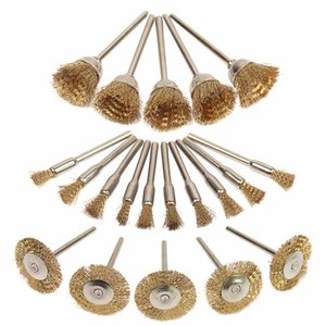 Rueda de acero de latón Dremel Juego de cepillos de alambre para accesorios Dremel Tools 20pcs / Set Burr Abrasive Head Herramientas de taladro para desbarbar W