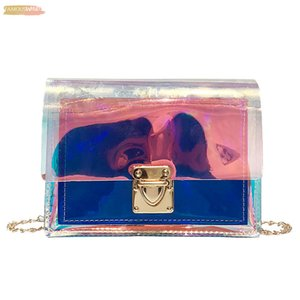 Women Pvc Transparent Clear Shoulder Bag Tote Jelly Purse Womens Fashion Wallets Handbag Borsa A Tracolla Trasparente P