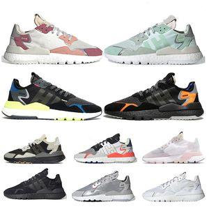 Adidas Nite jogger Scarpe Donna Uomo Scarpe Running Bianco Arancione Triple Black Road Safety Ice Mint Sneaker Sneakers