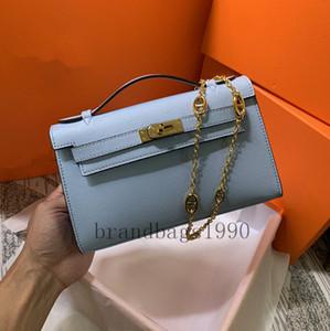 De calidad superior 22cm aguacate Moda Bolsas de hombro Totes mujeres mini monedero bolso de la señora de piel de becerro de cuero genuino bolso de la manera