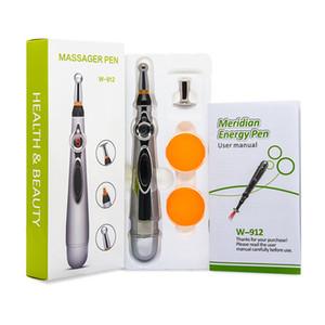 Elektronik Akupunktur Kalem Ağrı kesici Terapi Kalem Güvenli Meridyen Enerji İyileşmesi Masaj Vücut Baş Boyun Bacak Sağlık Massageadores Ücretsiz DHL