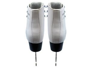 Adulte enfants enfants professionnel thermique épaissir chaud patinage artistique patins à glace chaussures avec lame de glace PVC imperméable blanc