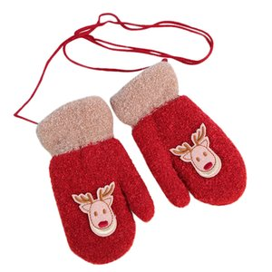 Toddler Fun Girls Boys Little Deer Print Winter Warm Christmas Kids Gloves Christmas Party 9.11