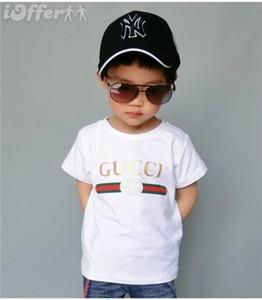 Nova Moda Verão 3-7 anos de idade Bebés Meninos Meninas Imprimir T-shirt R shirt Tops Cotton Crianças Tees Kids Clothing