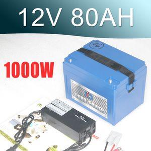 Pacote da bateria do lítio do bloco 18650 da bateria do Li-íon de 12V 80AH