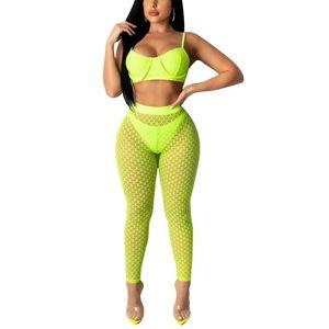 Mujeres Sexy Mallas de malla transparente pantalones largos de la playa Bikini Cover Up Pantalones