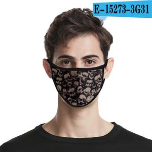 3d cranio progettista personalità viso maschera per adulti Divertimento vestito operato Viso Bocca maschere riutilizzabili polvere calda Maschera antivento Cotone