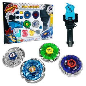 4D Beyblade Stadium Metal Master burst Fusion Fight Rare Launcher Grip Spinning Top Set